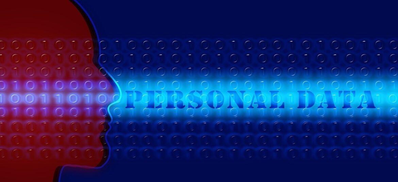 Volto stilizzato che guarda la scritta Personal Data