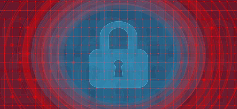 Un lucchetto circondato da cerchi rossi, a simbolo dei rischi derivanti dalla mancata applicazione della LPD